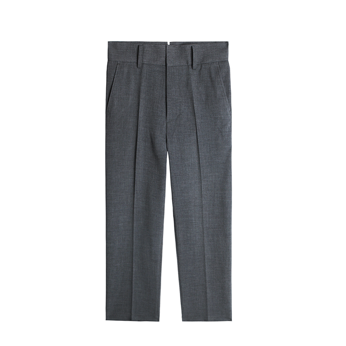 Comfort Fit Stretch Cropped Pants - Gray