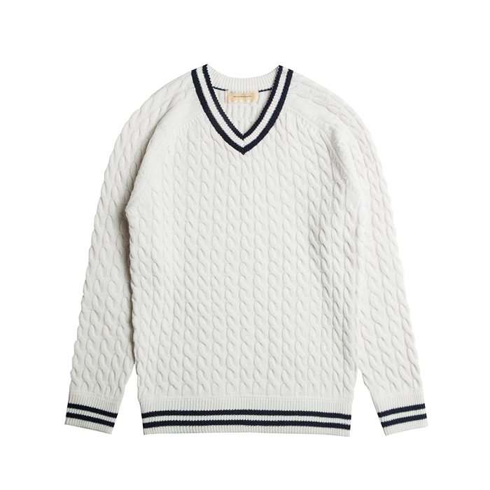 Merino Wool Cricket Sweater - Ivory