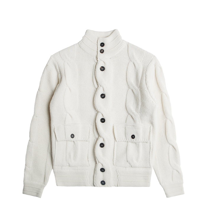 Merino Wool A-1 Flight Jacket - Ivory