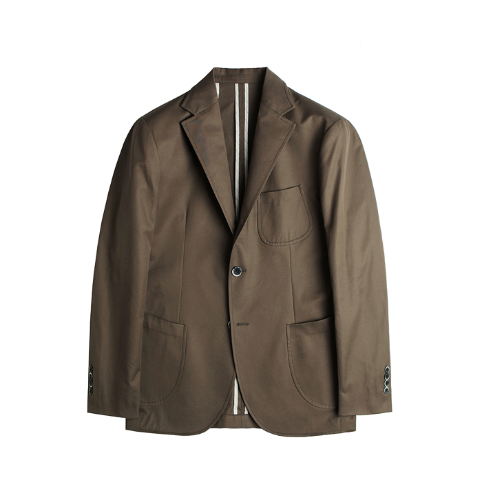 Cotton Gabardine Unconstructed Jacket - Khaki