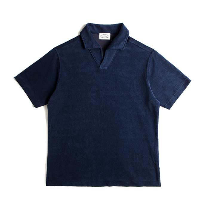Terry Cotton Polo Shirts - Navy