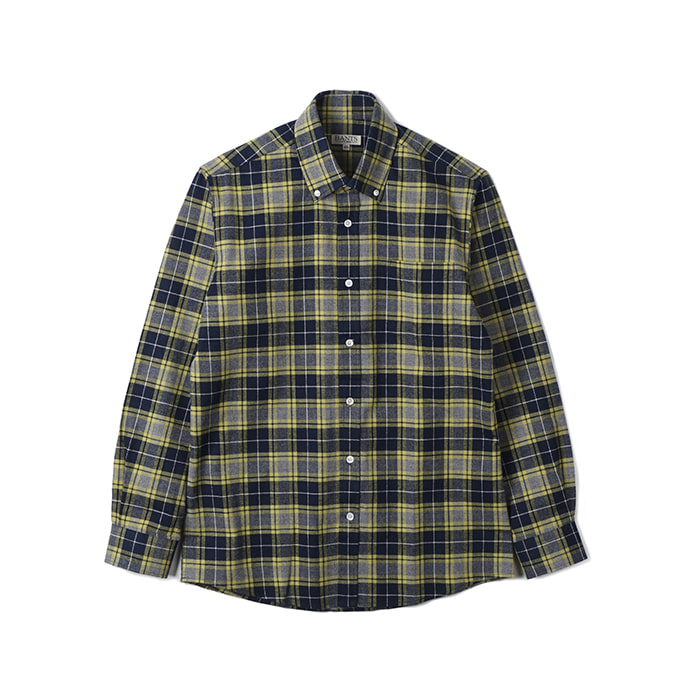 TJA Check Flannel B.D Shirt - Gray