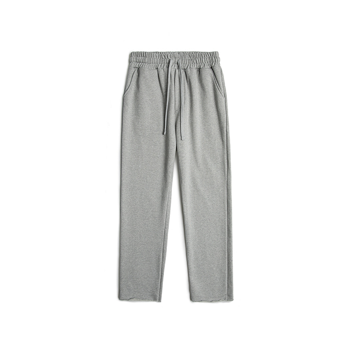 Wide Raw Edge Sweatpants - Melange