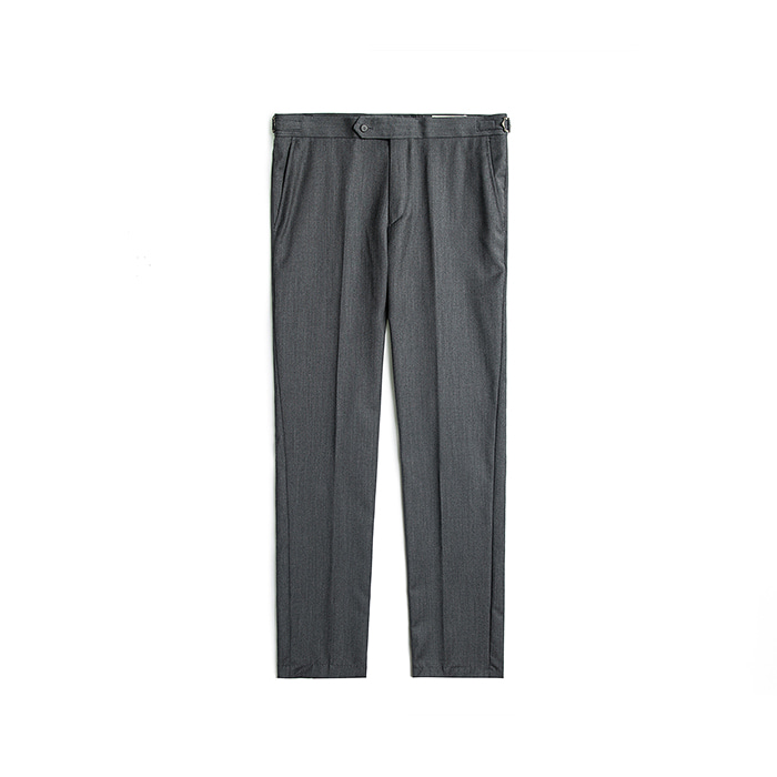 Cashmere Wool Blended Beltless Pants - Darkgray
