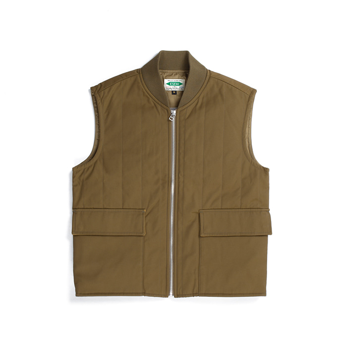 Quilted Vest - Khaki