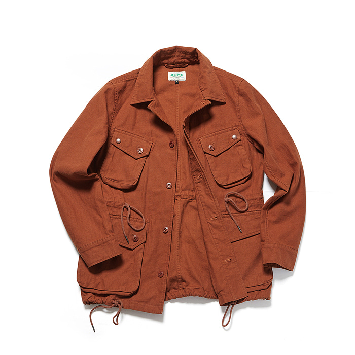 Cotton P.ield Jacket - Brown