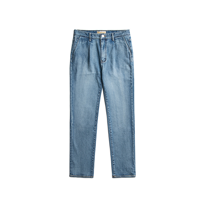 T-2 Kuroki Pleated Jeans - Sky Blue