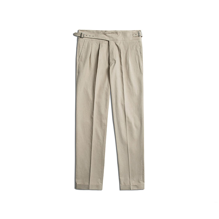 Cotton Gurkha Pants - Beige