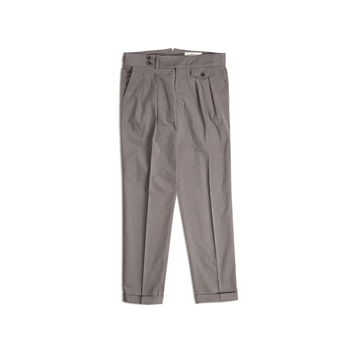 18 F/W Two Tuck Trousers - Gray