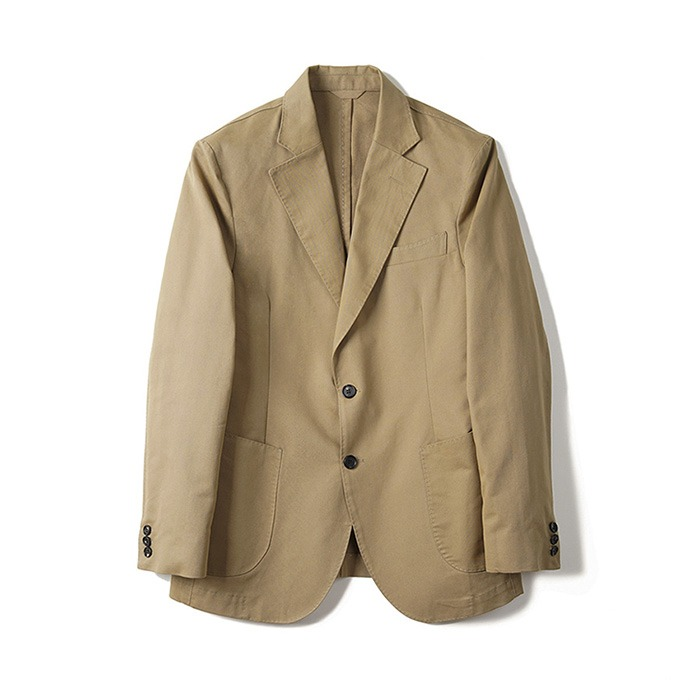 BTS Cotton 2B Single Jacket - Khaki