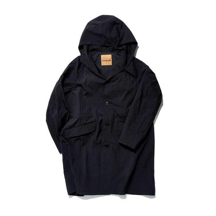 Hylon Overcoat - Black