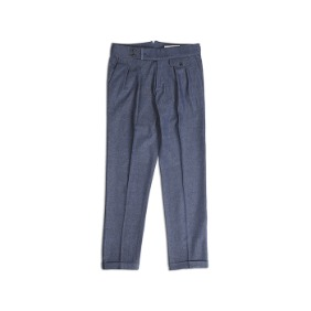 18 F/W Two Tuck Trousers - DenimBlue